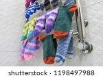 warm terry and woolen socks... | Shutterstock . vector #1198497988