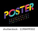 vector of stylized modern font... | Shutterstock .eps vector #1198499332