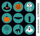 halloween vector set of icons... | Shutterstock .eps vector #1198500502