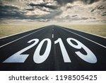 2019 road perspective  dark... | Shutterstock . vector #1198505425