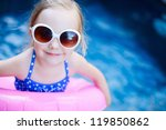 adorable little girl with...   Shutterstock . vector #119850862