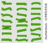 green ribbon set inisolated... | Shutterstock .eps vector #1198515418