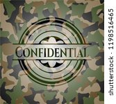 confidential on camouflage... | Shutterstock .eps vector #1198516465