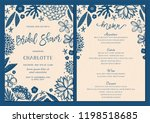 bridal shower invitation and... | Shutterstock .eps vector #1198518685