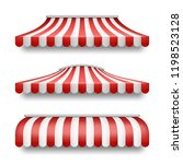 vector realistic set of striped ... | Shutterstock .eps vector #1198523128
