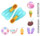 vector illustration of pool and ... | Shutterstock .eps vector #1198526728