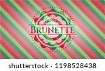 brunette christmas style emblem. | Shutterstock .eps vector #1198528438