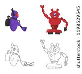 isolated object of robot and... | Shutterstock .eps vector #1198529545