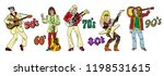 popular 20th century rock music ... | Shutterstock .eps vector #1198531615