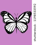 insect butterfly vector... | Shutterstock .eps vector #1198533592