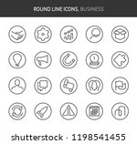 business theme  round line... | Shutterstock .eps vector #1198541455
