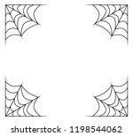 spiderweb frame  border ... | Shutterstock .eps vector #1198544062