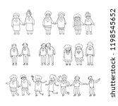 elderly gay couples isolated on ... | Shutterstock .eps vector #1198545652