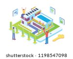 modern isometric smart home... | Shutterstock .eps vector #1198547098