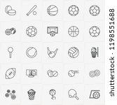 balls line icon set with...   Shutterstock .eps vector #1198551688