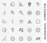 balls line icon set with golf...   Shutterstock .eps vector #1198551718