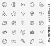 balls line icon set with...   Shutterstock .eps vector #1198551775