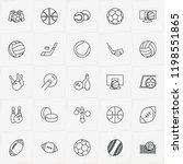 balls line icon set with...   Shutterstock .eps vector #1198551865