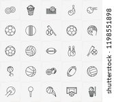 balls line icon set with golf...   Shutterstock .eps vector #1198551898