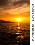 beautiful landscape. sunset...   Shutterstock . vector #1198555405