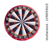 giant inflatable dart board...   Shutterstock . vector #1198555615
