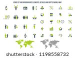 human resources icons related... | Shutterstock .eps vector #1198558732