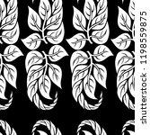 vector seamless floral pattern... | Shutterstock .eps vector #1198559875