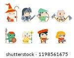 fantasy rpg game character ... | Shutterstock . vector #1198561675