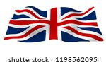waving flag of the great... | Shutterstock . vector #1198562095