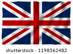 waving flag of the great... | Shutterstock . vector #1198562482