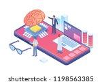 modern isometric artificial... | Shutterstock .eps vector #1198563385