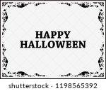 halloween frame october 31st.... | Shutterstock .eps vector #1198565392