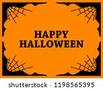 halloween frame with cobwebs.... | Shutterstock .eps vector #1198565395