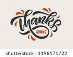 hand drawn thanksgiving... | Shutterstock .eps vector #1198571722