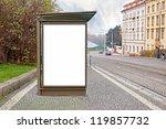 empty billboard on the street | Shutterstock . vector #119857732