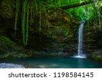 azek waterfall in sochi  | Shutterstock . vector #1198584145