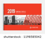 cover design for annual report... | Shutterstock .eps vector #1198585042