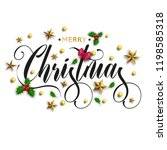 merry christmas inscription... | Shutterstock .eps vector #1198585318