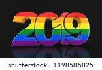 3d illustration. gay pride... | Shutterstock . vector #1198585825