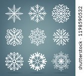 frosty close up snow set.... | Shutterstock .eps vector #1198590532