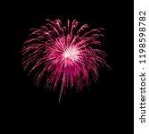 fireworks light up on black... | Shutterstock . vector #1198598782