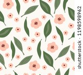 seamless bloom pattern. nature... | Shutterstock .eps vector #1198598962