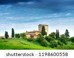 summer landscape with villa.... | Shutterstock . vector #1198600558