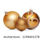 group of gold christmas balls... | Shutterstock . vector #1198601278