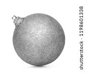 silver christmas ball isolated... | Shutterstock . vector #1198601338