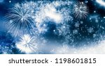 fireworks at new year and copy... | Shutterstock . vector #1198601815