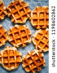 belgian waffles background.... | Shutterstock . vector #1198602862