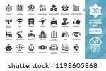 vector internet of things icon... | Shutterstock .eps vector #1198605868