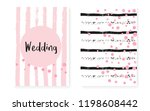 bridal shower card with dots... | Shutterstock .eps vector #1198608442