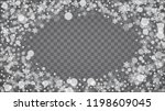 blizzard snowflakes on... | Shutterstock .eps vector #1198609045